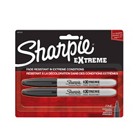 Sharpie Extreme Permanent Markers, Black, Fine Tip, 2/PK