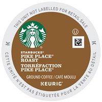 Starbucks Coffee Single-Serve K-Cup Pods, Pike Place Roast, 24/BX