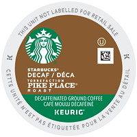 Starbucks Coffee Single-Serve K-Cup Pods, Decaffeinated Pike Place Roast, 24/BX