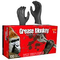 Gants en nitrile jetables Grease Monkey Watson Gloves, 5 mils, moyen, noir, boîte de 100