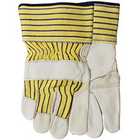 Cowhide Leather Econo-Grain Gloves, One Size