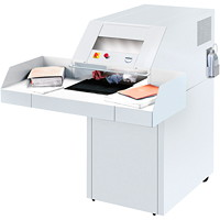 DestroyIt Ideal-MBM 4108 High Capacity Shredder with Automatic Oiling System, Cross-Cut, 65-82 Sheet Capacity, P-3 Level