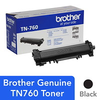 Brother Black High Yield Laser Toner Cartridge (TN760)