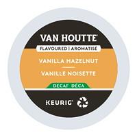 Dosettes K-Cup de café Van Houtte, aromatisé vanille noisette décaféiné, boîte de 24