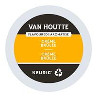 Dosettes K-Cup de café Van Houtte, aromatisé crème brûlée, boîte de 24
