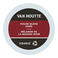 Dosettes K-Cup de café Van Houtte, mélange de la maison noir, boîte de 24