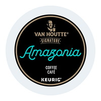 Van Houtte Single-Serve Coffee K-Cup Pods, Amazonia, Fair Trade & Organic, 24/BX