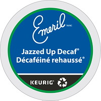 Emeril's Gourmet Single-Serve Coffee K-Cup Pods, Jazzed Up Decaf Coffee, 24/BX