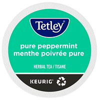 Tetley Tea Single-Serve K-Cup Pods, Pure Peppermint Herbal Tea, 24/BX