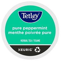 Dosettes K-Cup de thé Tetley, tisane menthe poivrée pure, boîte de 24