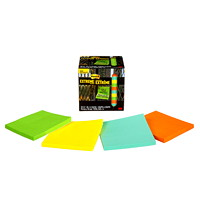 Post-it Extreme Notes, Green/Yellow/Orange/Mint, 3