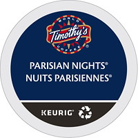 Timothy's Single-Serve Coffee K-Cup Pods, Parisian Nights, 24/BX