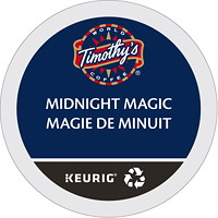 Timothy's Single-Serve Coffee K-Cup Pods, Midnight Magic, 24/BX