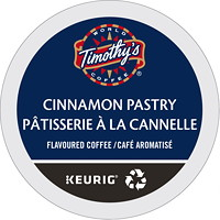 Timothy's Single-Serve Coffee K-Cup Pods, Cinnamon Pastry Flavoured, 24/BX
