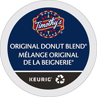 Timothy's Single-Serve Coffee K-Cup Pods, Original Donut Blend, 24/BX