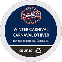 Timothy's Single-Serve Coffee K-Cup Pods, Winter Carnival, 24/BX