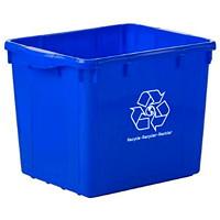 Bac de recyclage Globe Commercial Products, bleu, capacité de 16gallons