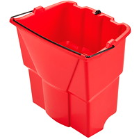 Seau pour eau sale WaveBrake Rubbermaid Commercial, rouge, 18 pintes