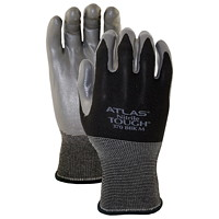 Gants en nitrile Atlas Blackhawk 380, moyen, noir et gris, emb. de 6 paires