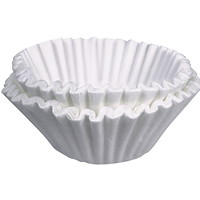 Bunn 8-10 Cup Coffee Filters, White, 8 1/2