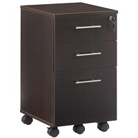 Safco Medina Mobile Box/Box/File Pedestal, Mocha, 15 1/2