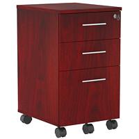 Safco Medina Mobile Box/Box/File Pedestal, Mahogany, 15 1/2