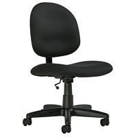 Global Score Series Low-Back Armless Office Task Chair, Echo Black, Terrace Fabric