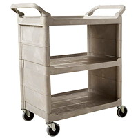 Rubbermaid Commercial 3355-88 Utility Cart with Swivel Casters and End Panels, Platinum, 300 lb. Capacity
