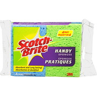 Scotch-Brite Handy Sponges, Assorted Colours, 4/PK