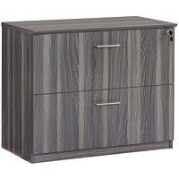 Safco Medina 2-Drawer Lateral File, Grey Steel, 36