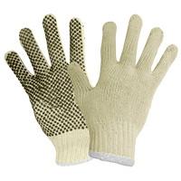 Gants en tricot de polyester et coton à pois en PVC Ronco