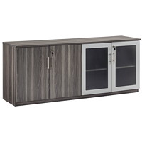 Safco Medina Low Wall Cabinet With Doors, Grey Steel, 72