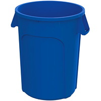 Globe Commercial Products Waste Container, Blue, 44-Gallon Capacity