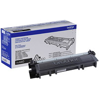 Brother Black High Yield Laser Toner Cartridge (TN660)