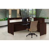 Offices To Go Ionic Reception Suite, Dark Espresso