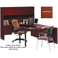 Global Genoa U-Shaped Desk Package, Avant Honey - Left-Handed Configuration