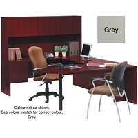 Global Genoa U-Shaped Desk Package, Grey - Left-Handed Configuration