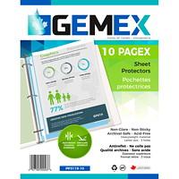 Gemex Top-Loading Polypropylene Sheet Protectors, Heavyweight, Non-Glare, Letter Size, 10/PK