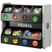 Keurig Premium K-Cup Storage Rack, Black, 8-Sleeve Capacity