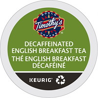 Timothy's Decaffeinated English Breakfast Tea K-Cup Pods, Single-Serve, Box of 24