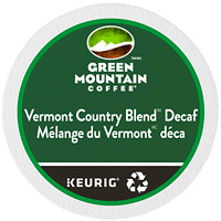 Green Mountain Coffee Single-Serve K-Cup Pods, Vermont Country Blend Decaf, 24/BX