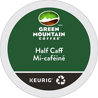 Green Mountain Coffee Single-Serve K-Cup Pods, Half-Caff, 24/BX