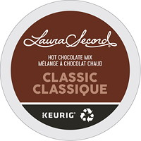 Laura Secord Hot Chocolate Mix Single-Serve K-Cup Pods, Dark Classic, 24/BX