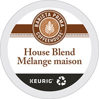 Barista Prima Coffeehouse Single-Serve Coffee K-Cup Pods, Medium Dark House Blend, 24/BX