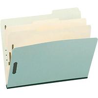 Chemises de classement à deux intercalaires en carton comprimé Pendaflex, vert pâle, format légal, boîte de 10
