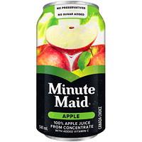 Jus Minute Maid, pomme, 341ml, caisse de 24