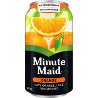 Jus Minute Maid, orange, 341ml, caisse de 24