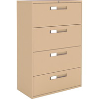 Global 9300 Series Lateral File, 4-Drawer, 36
