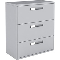 Global 9300 Series Lateral File, 3-Drawer, 36