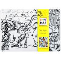 Funny Mat Reusable Table Top Colouring Mat, Jurassic/Dinosaur Theme, 18 9/10